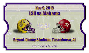 Alabama vs LSU 2019
